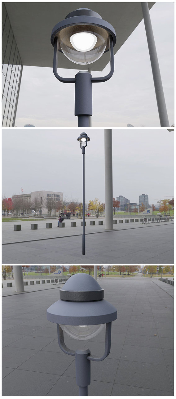 Street Light 5 - High-Poly Version