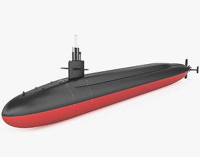 Ohio-class submarine 3D model
