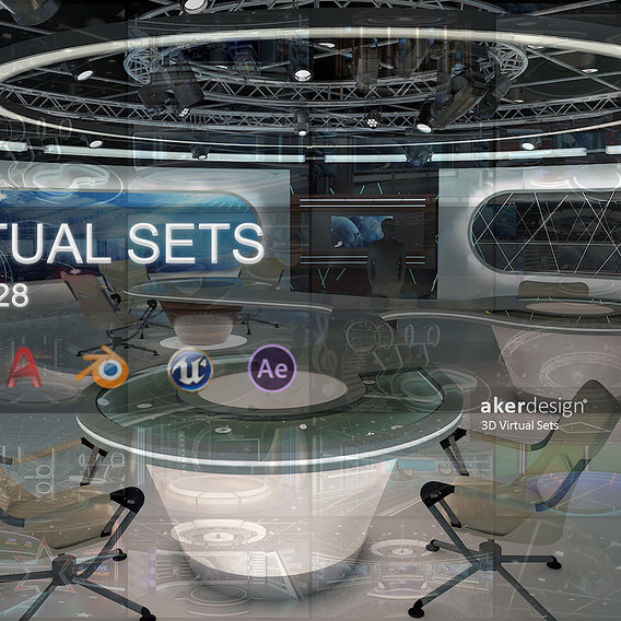 Virtual TV Studio Sets - 3D Model Designs