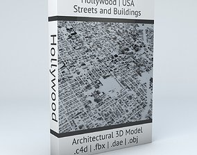 3D model Hollywood in LA Streets and Buildings