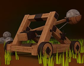 3D model Medieval Catapult - Not Rigged