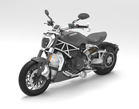 Motorcycle Ducati XDiavel S 2016 3D Model