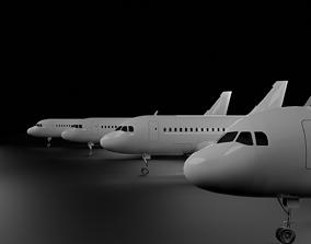 Airbus A320 Family A318 A319 A320 A321 3D model