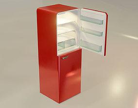 Fridge Freezer Low Poly Realistic Model low-poly