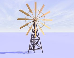 3D Origami animated windmill