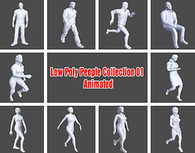 Low Poly People Collection 01 - Animated 3D model