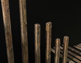 3D asset Old Wood Planks and Balks