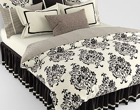 Bedclothes black and white 3D