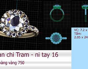 3D print model Women Halo ring