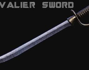 3D asset Cavalier Sword