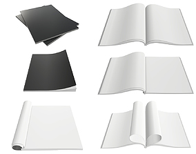 3D Magazine A4 size blank for mock-up