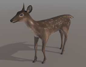 Low-poly Animated Deer 3D asset