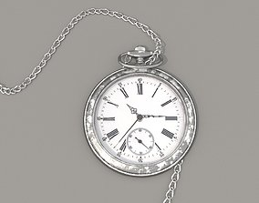 3D Pocket watch with chain