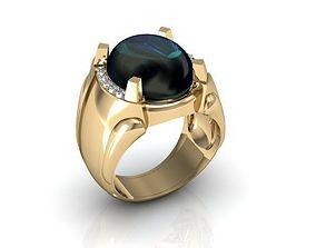 white diamond ring 3D print model