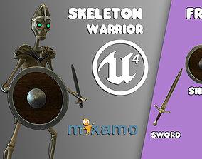 Skeleton Warrior 3D model rigged