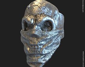 Skull Gangster vol2 ring jewelry 3D print model