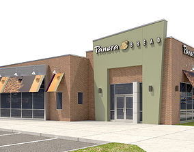 3D model Retail-025 Panera Bread With Site