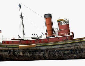 3D model Hercules Tug Ship - 1907