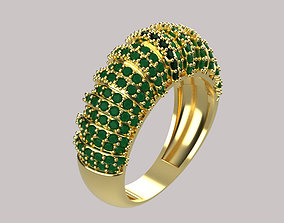 3D printable model women ring diamond r00077