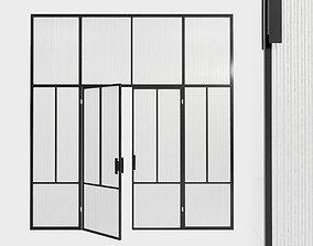 3D model Glass partition door 89