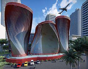 Modern Twist Building 3D asset