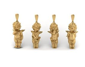 4 love angels pendant 3D print model