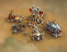 3D model Medieval War Machines