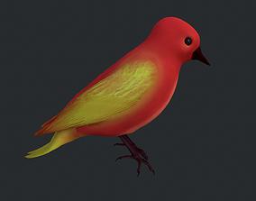 Red Bird 3D asset