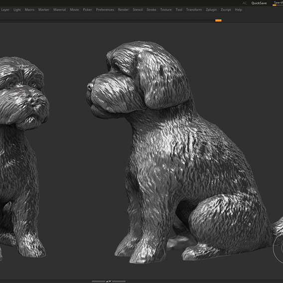 dog 3d print model