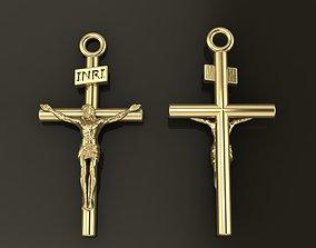 3D printable model JESUS CROSS PENDANT LARGE SIZE
