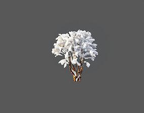 Low Poly Tree Bush Winter Stylish 3D asset