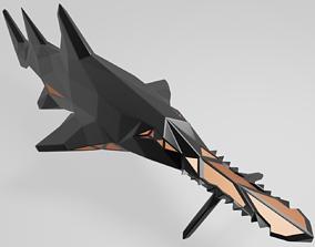 Polygonal Saw Shark Parametric 3D print model