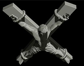 Realistic sculpture crucifix 3D printable model