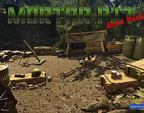 Low-Poly Mortar Pit Pack 3D model