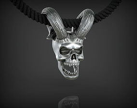 Skull with Horns 3D printable model