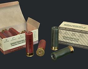 12 Gauge Shotgun Ammunition Pack 3D model