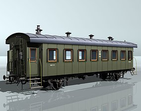 passenger two-axles wagon 3D model