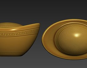 3D asset Chinese gold