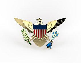 American eagle badge 3D printable model