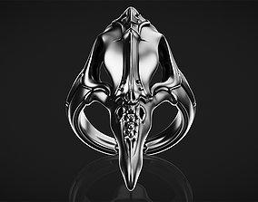 Biomechanical Skull Ring Plague Doctor 3D print model