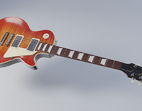 Les Paul electric guitar 3D model