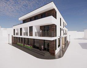 Multifunctional house 3D asset