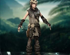 3D asset Lara Croft Baba Yaga