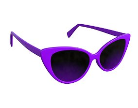 Butterfly shaped sun glasses 3D
