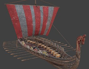 Medieval ship 3d model low-poly