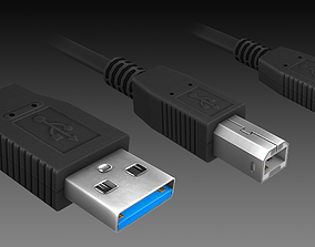 USB Connectors 3D model