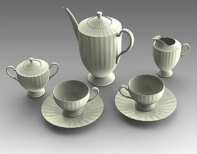 Tea set 03 3D