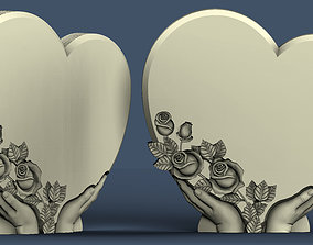 heart of a rose hand 3d model in stl format for CNC 1