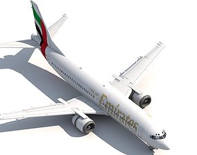 aeroplane 737 400 Emirates 3D model