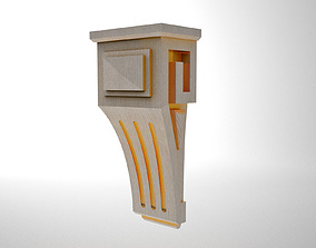 3D printable model cutting decorative bracket